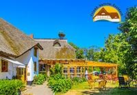 Gartenrestaurant STORCHENNEST<br>REETDACH-Pension Up'n Hoff